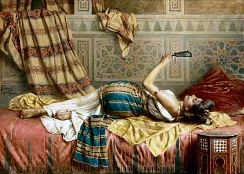 Les odalisques en peinture Francesco-Ballesio_1860-1923